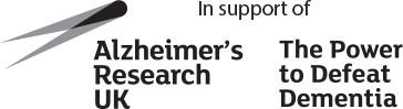 In support of Alzheimers Research UK